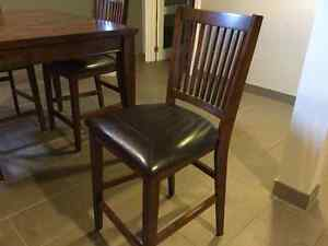 QUALITY, SOLID WOOD, PUB STYLE TABLE AND FOUR CHAIRS Windsor Region Ontario image 3