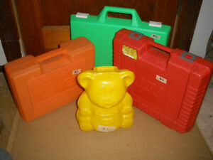 3 Plastic Cases for Toy Storage