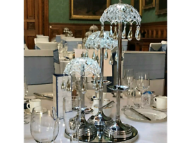 20 X Set Of 3 Silver Centrepieces Lamp Wireless