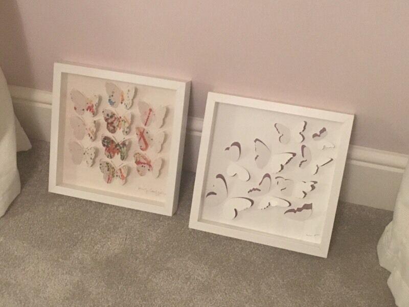 Pair of IKEA Olunda butterfly framed art £10 | in Dereham, Norfolk ...