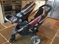 iCandy Peach Blossom twin/double push chair/pram/stroller