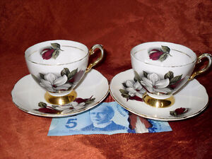 Pair of Royal Tuscan Cups and Saucers