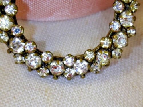 Vintage French Crystal  Shoe Clip diamond Circle Jewelry Ring