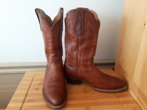 LIKE NEW! Mens ARIAT Pro Leather cowboy boots 8.5D