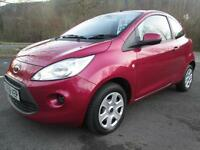 09/59 FORD KA 1.2 STYLE 3DR HATCH IN RED WITH ONLY 62,000 MILES