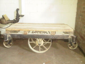 Industrial Antique Factory Cart Coffee Table