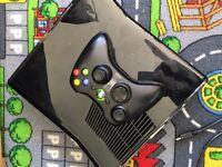 Xbox 360 + racing seat + racing wheel