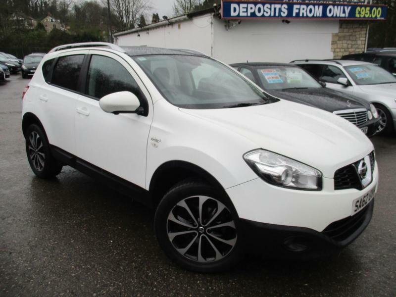 2012 nissan qashqai n tec plus in white and black diamond cut alloys hatchback in saltford. Black Bedroom Furniture Sets. Home Design Ideas