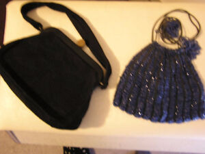 Beautiful Antique Beaded Cluch Purses  White, Black, Blue
