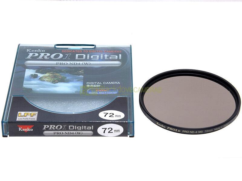 72mm. filtro Neutral Density ND-4(W) Kenko Pro D. Filtro neutro +2 stop.