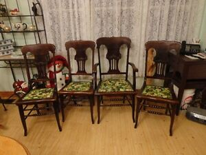 Vintage Chairs ( 4 ) ---- (3) regular style - (1) captain style