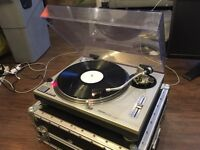 Technics SL1200 mk2 with f.case, all original parts and stylus