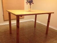 Butcher Block Style Table
