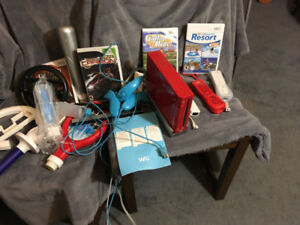 Wii system with games and accessories