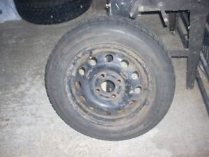 1 summer tire on rim off of a ford focus, 175/70/14