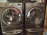 Front load washer/dryer with pedestals Maytag 3000 Series