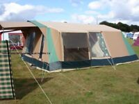 Cabanon Aruba 6 Berth Canvas Frame Tent with Sun Canopy [Free - just come and collect!]