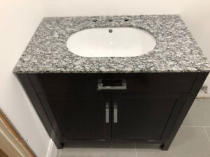 New, Washroom Vanity Cabinet, sink, granite counter top