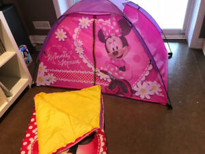 Minnie Mouse Tent & Sleeping Bag