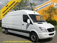 2012 /12 Mercedes Sprinter 313CDI LWB High Roof Panel Van+ Cruise Rwd