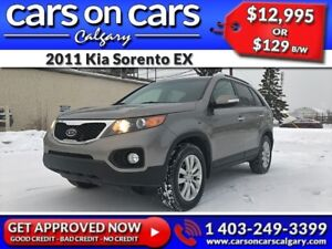 2011 Kia Sorento EX w/Leather, BackUp Cam, USB  Connect  $129B/W
