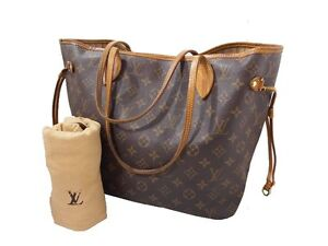 AUTHENTIC LOUIS VUITTON NEVERFULL MM SHOULDER TOTE MONOGRAM HANDBAG PURSE