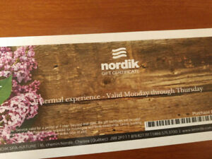 Nordik thermal experience gift tickets $55