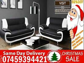 50% Off BRAND NEW Leather 3 and 2 Seater SOFA SUITE