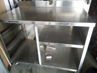 3ft 11 Study stianless steel work table!SAVE!