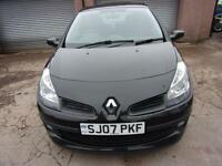 RENAULT CLIO 1.4 dynamique 2007 Petrol Manual in Black