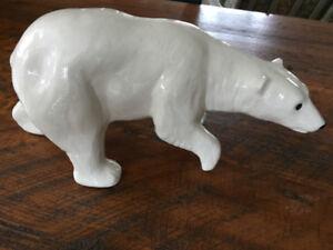 Vintage Duncan Ceramic 1975 Polar Bear Figure
