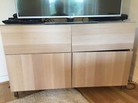 Besta (Ikea) TV unit Storage combination with two drawers and two doors (40, 120, 75)