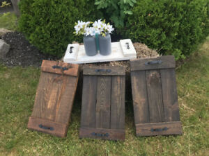 Rustic Wood Trays - Reclaimed Pallet