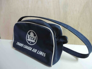 VINTAGE TRANS CANADA AIRLINES CHILD'S TRAVEL BAG
