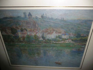 "Claude Monet ""Vetheuil"" Painted 1901 Textured Art Print Stratford Kitchener Area image 4"