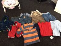 Bundles of boys clothes