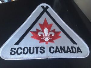 Vintage Boy Scouts Embroidered Patch Crest LARGE