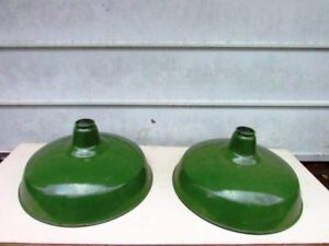 Green Enamel Metal Ceiling Light Shade Industrial