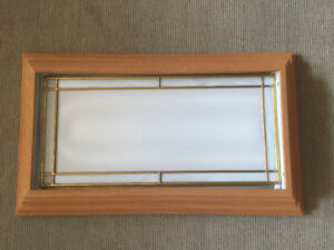 Fluorescent Oak frame light