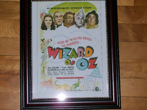 Wizard Of Oz - Rare 1939 Movie Poster - Framed Print! West Island Greater Montréal image 1