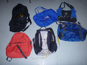 Back packs (small) and various travel bags, Salmon Arm
