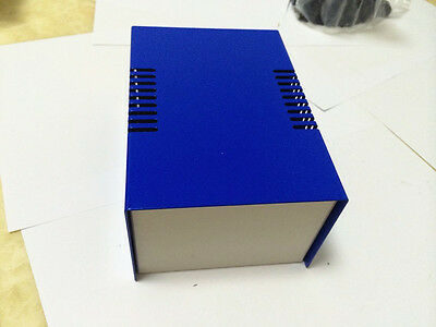 Blue Diy Metal Electronic Project Box Transformer Enclosure Case 5.9x4x2.9