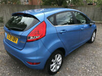 2009 59 FORD FIESTA ZETEC 1.25 5 DOOR BLUE **ONLY 62,000 MILES**