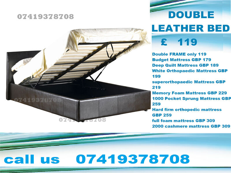 DoubleKingsize leather Frame with storage Beddingin Westminster, LondonGumtree - Whether Youre An Investor or a Home Owner, Our Furniture Packages Are The Quickest And Most Cost Effective Way To Furnish An Entire Property. Available Colours Rich Coffee Brown Pitch Black CONDITION Brand New in original packaging, flat packed