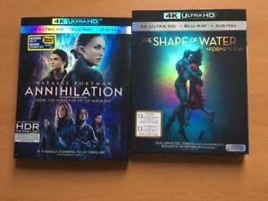 2 films 4k shape of water + Annihilation inclus digital code