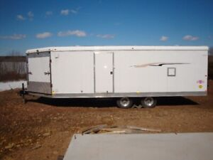 2 Enclosed, 1 Open and 1 Boat Trailer