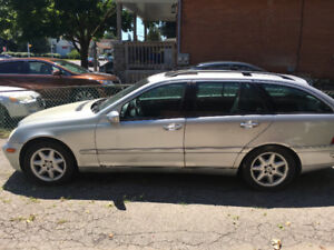 2002 Mercedes C320 Wagon Silver As Is