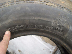 2 Tires 215x65x14 or 225 65x14 Winter or Summer**WANTED**