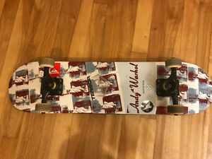 Skateboard custom built Andy Warhol