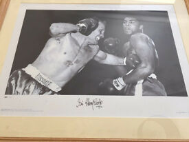 Signed Boxing Print